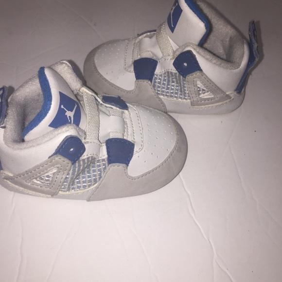 29faf7533 Infant Nike Air Jordans blue retro 4 size 4c baby.  M_5b6a56b181bbc8f541ebe9d6